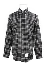 Thom Browne Check Flannel Cotton Long Sleeves Shirt - Lyst