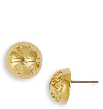 Tory Burch Small Domed Stud Earrings - Lyst
