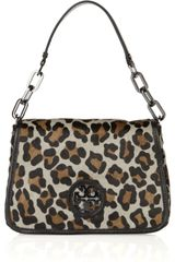 Tory Burch Leopard-print Calf Hair and Leather Bag - Lyst