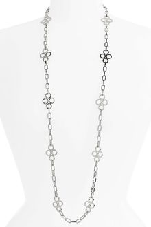 Tory Burch Large Clover Chain Necklace - Lyst
