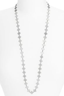 Tory Burch Mini Clover Chain Necklace - Lyst