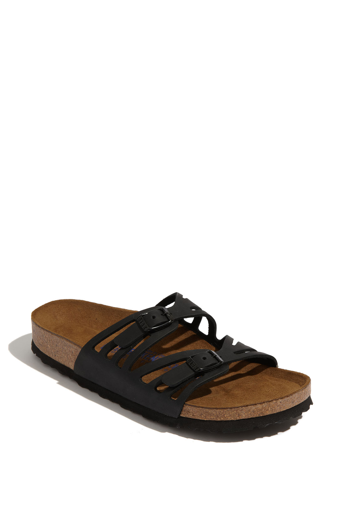 Lyst - Birkenstock Granada Soft Footbed Sandal in Black