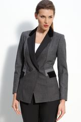 DKNY Patchwork Wool Blend Jacket - Lyst