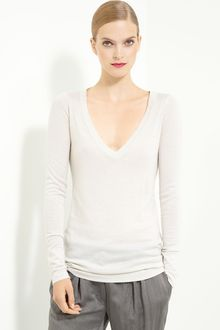 Donna Karan New York Collection Metallic Cashmere Blend Sweater - Lyst
