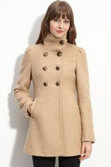 Guess Double Breasted Coat - Lyst