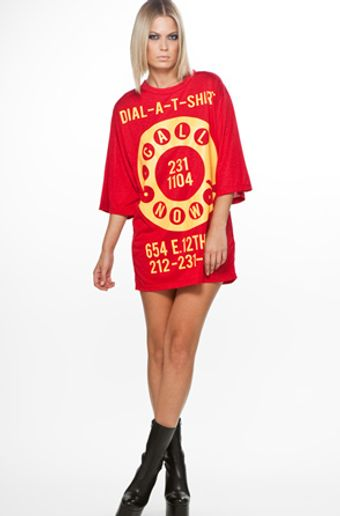 Jeremy Scott Dial Big Tee in Red - Lyst