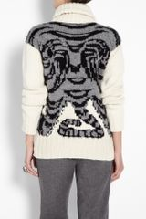 Joseph Tiger Roll Neck Sweater in Animal (tiger) - Lyst