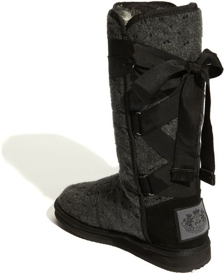 Juicy Couture Marley Sequined Winter Boot in Black | Lyst
