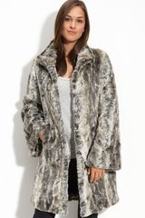 Kristen Blake Faux Fur Coat (plus) - Lyst