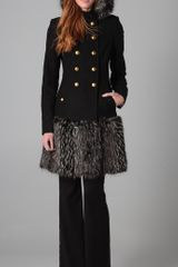 Rachel Zoe Betty Coat with Fur - Lyst