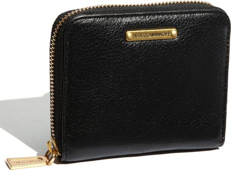 Rebecca Minkoff Small Zip Around Wallet in Black - Lyst
