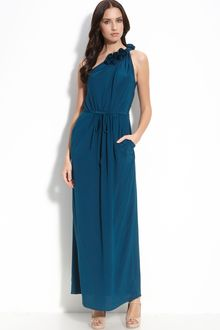 Rebecca Taylor Sweet Rose One Shoulder Gown - Lyst