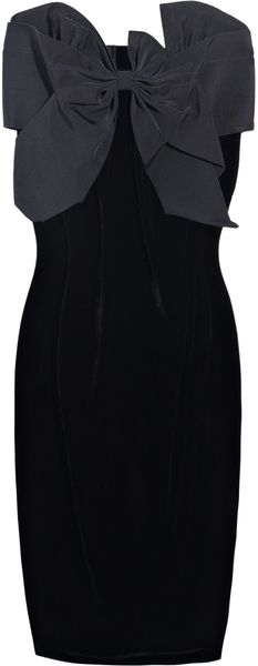 Sonia Rykiel Bowembellished Velvet Dress in Black - Lyst