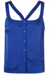 Topshop Satin Cut Out Cami - Lyst