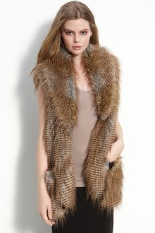 Twelfth Street by Cynthia Vincent Arizona Faux Fur Vest - Lyst