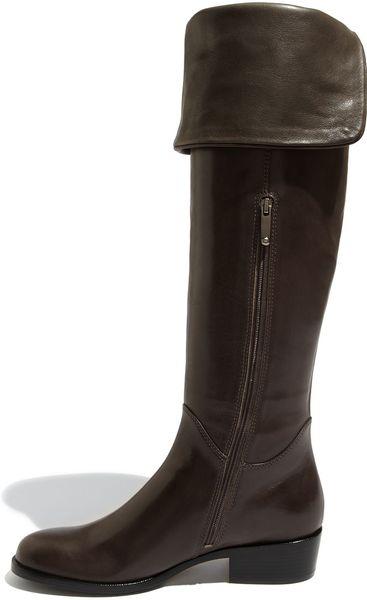 via spiga kaia the knee boot in brown granite lyst