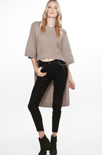 Yigal Azrouel Long Back Pullover in Sand - Lyst