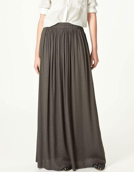 zara skirt in gray grey lyst