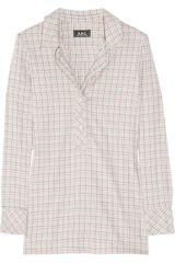 A.P.C. Checked Cotton-twill Shirt - Lyst