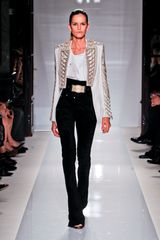 Balmain Spring 2012 High Waisted Full Length Pants In Black - Lyst