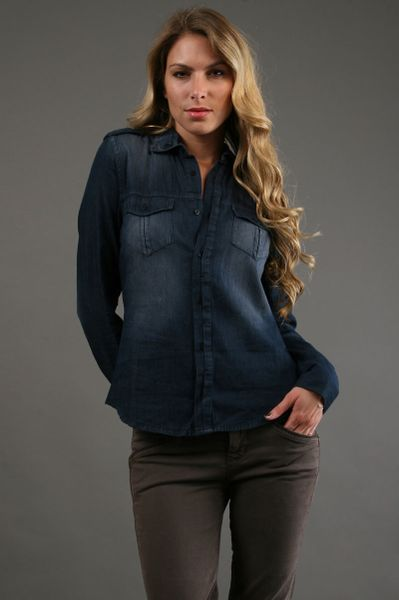 Joe's Jeans Sexy Military Shirt in Blue (gold) - Lyst