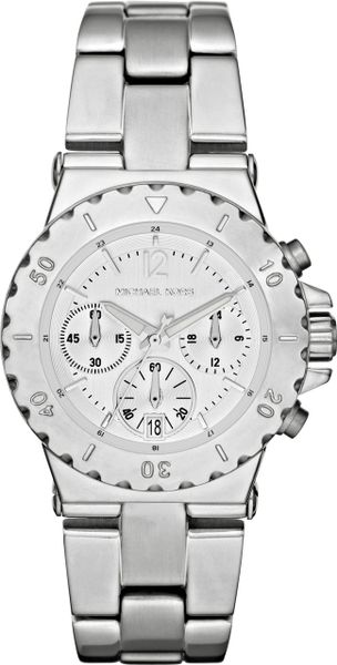 Michael Kors Mini Bel-air Watch, Stainless Steel in Silver - Lyst
