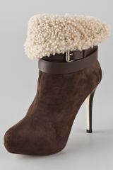 Report Signature Deluka Suede High Heel Booties - Lyst