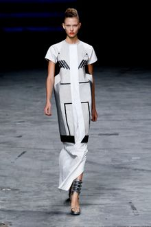 Rick Owens Spring 2012 Long White Skirt - Lyst