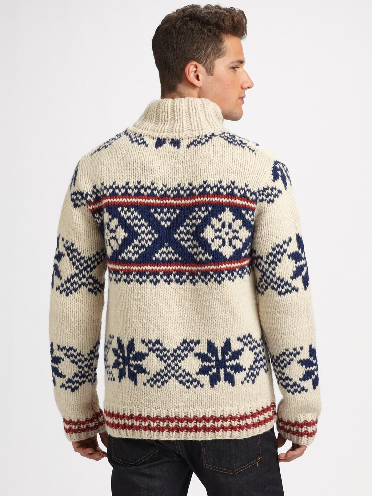 Scotch & soda Hand-knit Wool Sweater in White for Men | Lyst