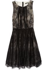 Tibi Silk and Lace Dress - Lyst