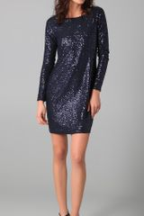 Tibi Sequined Shift Dress - Lyst