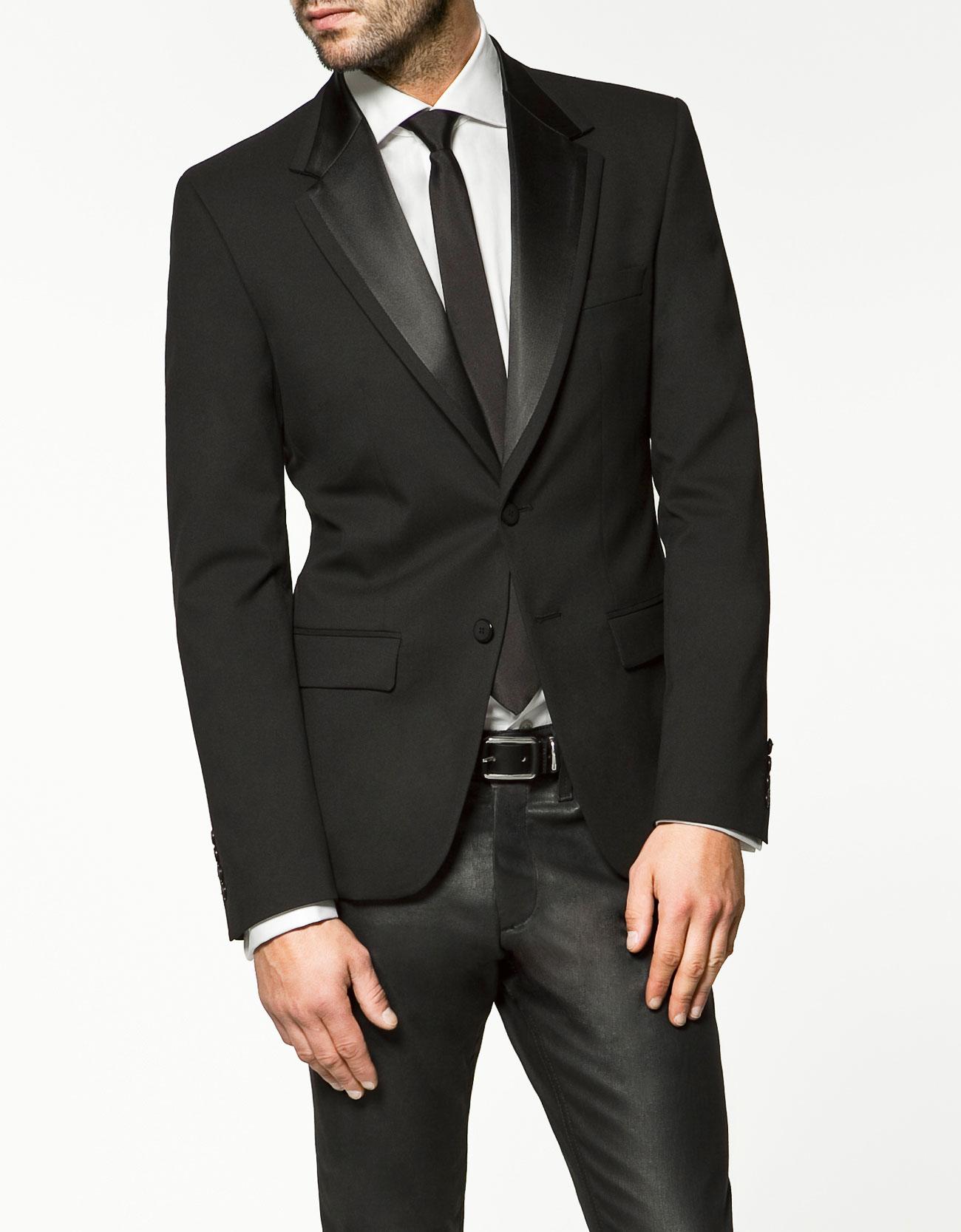 Zara Tuxedo Jacket in Black for Men | Lyst