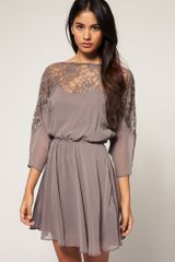 ASOS Collection Asos Dress with Lace Top - Lyst