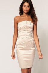 ASOS Collection Asos Bandeau Dress with Ruched Front - Lyst