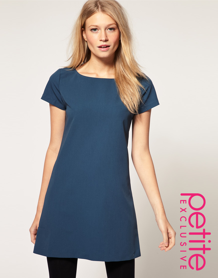 Asos collection Asos Petite Exclusive Shift Dress with Exposed Zip ...