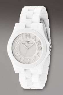 Marc By Marc Jacobs Marco Marc Watch, White - Lyst