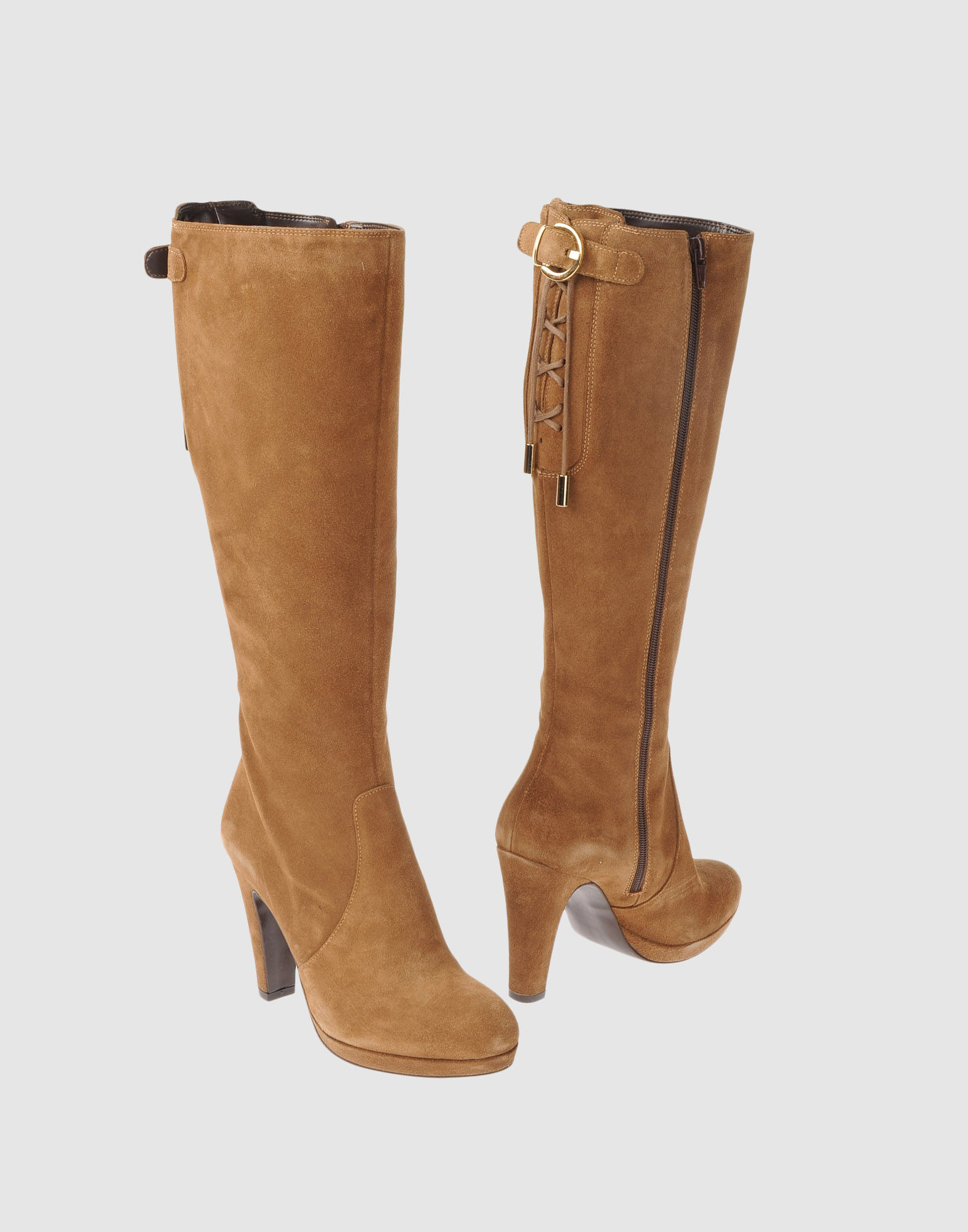 19ceb61ff50004 Lyst - Les Trois Garçons High Heeled Boots in Brown