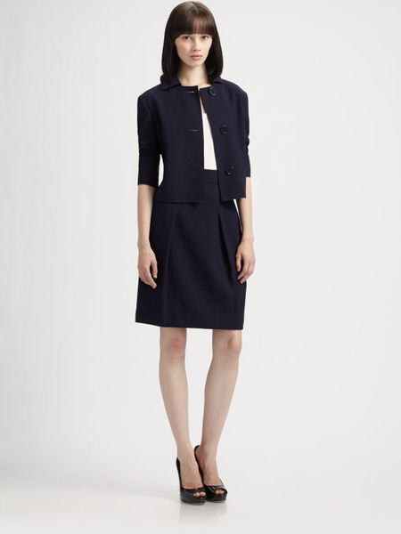 Akris Punto Wool Skirt in Blue (navy) - Lyst