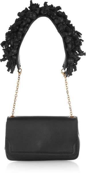 Christian Louboutin Artemis Embellished Leather Shoulder Bag in Black - Lyst