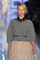 Dior Spring 2012 Gazar and Organza Skirt in Beige (black, white) - Lyst