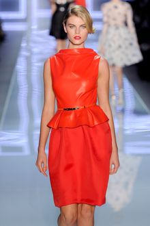 Dior Spring 2012 Red Gazar Skirt  - Lyst