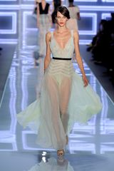 Dior Spring 2012 Pastel Bodice Detail Gown With Sheer Skirting - Lyst