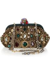 Dolce & Gabbana Jewel And Pearl-Embellished Clutch - Lyst