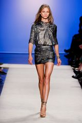 Isabel Marant Spring 2012 Metallic Mix Print Mini Dress With Bow Detail  in Gray - Lyst