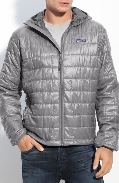 Patagonia Nano Puff Hooded Jacket In Gray For Men Forge