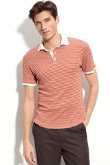Shipley & Halmos Broome Stripe Cotton Polo - Lyst