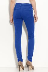 Blue Essence Colored Denim Skinny Jeans - Lyst