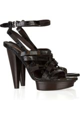 Calvin Klein Kayla Textured-leather Sandals - Lyst