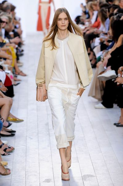 Chloé Spring 2012 White Long Sleeve Shirt in White - Lyst