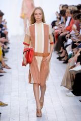 Chloé Spring 2012 Color-Block Short Sleeve Knee Lenght Dress - Lyst